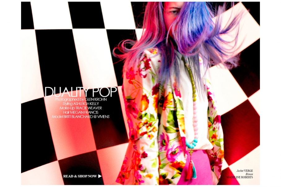Fashion Editorial 'Duality Pop' Published In Institute